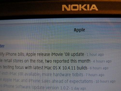 iPhone Netvibes sur un Nokia E90