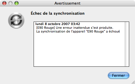 Synchro iSync E90