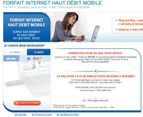 L'offre DATA Bouygues Telecom à 30 euros par mois