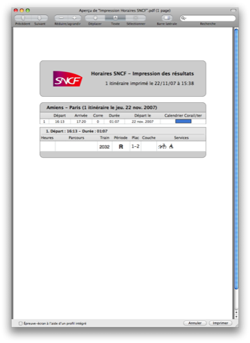 Horaires SNCF : Export des données