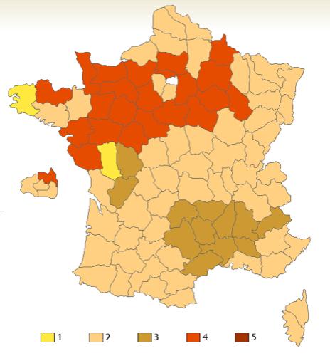 Le nombre de bises des français