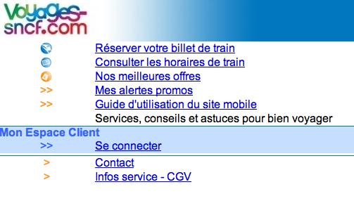 SNCF après un passage aux toilettes, tout léger