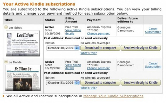 Active Subscriptions