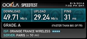 speedtest orange 4G