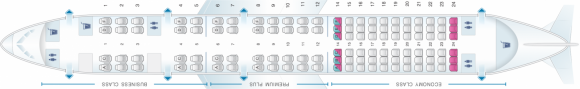 Seat Map OpenSkies Boeing B757 200 114PAX