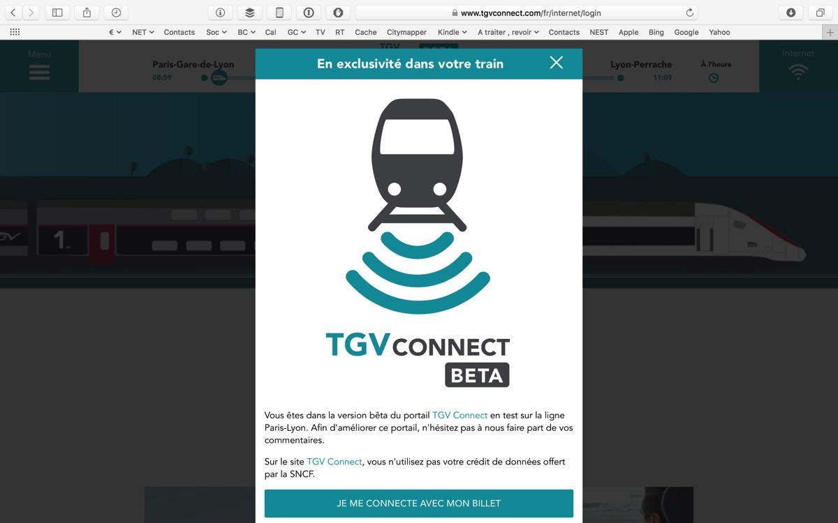 Portail TGV Connect